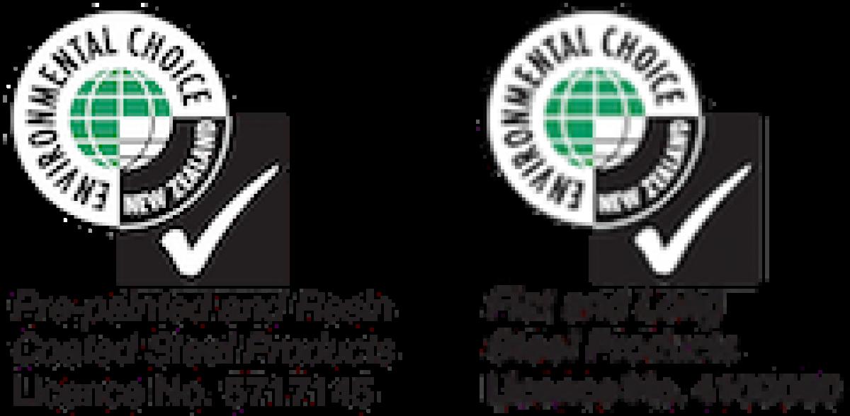 NZ Steel Environmental Choice Logos