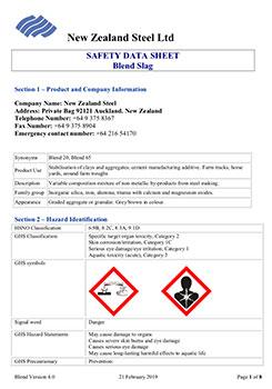 Safety Data Sheet Blend Slag